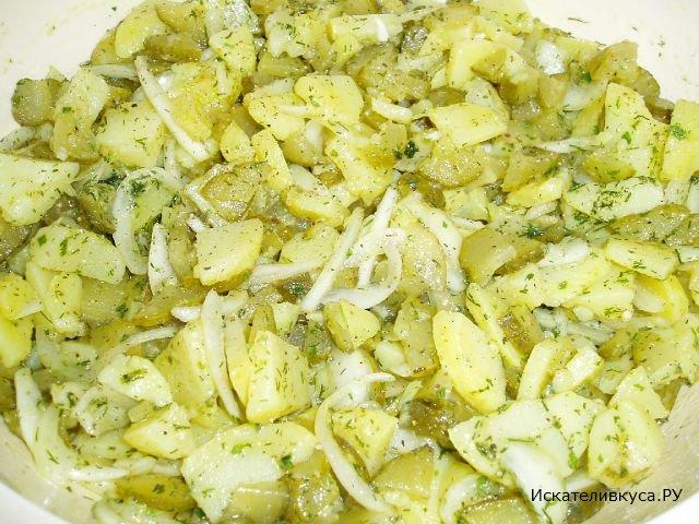 Картофельный салат рецепт с