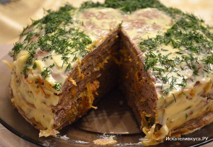 Как сделать печеночный торт рецепт фото