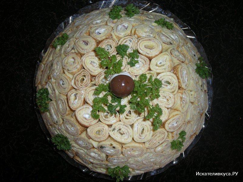 Салаты с блинчиками рецепты с фото